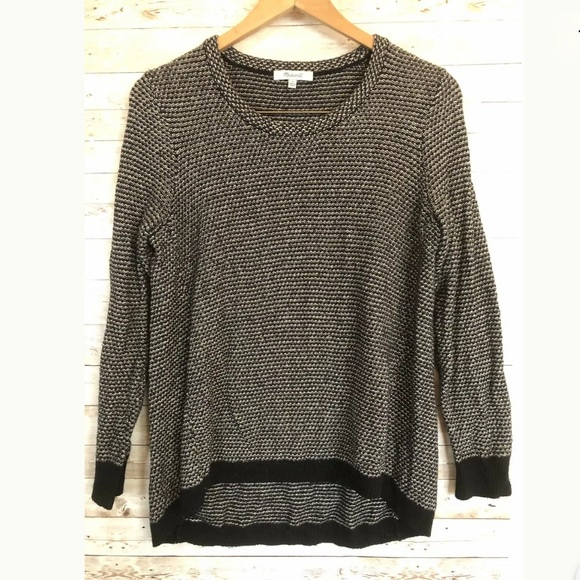 Madewell Knit Black White Pullover Jumper-Small